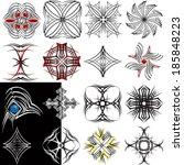 tattoo design variations  ... | Shutterstock .eps vector #185848223