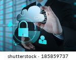 Businessman Hand Show 3d Cloud...