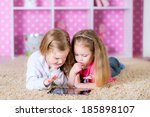 little sisters playing on a... | Shutterstock . vector #185898107