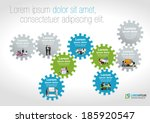 template for advertising... | Shutterstock .eps vector #185920547