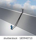 climbing stairs stairway... | Shutterstock . vector #185940713