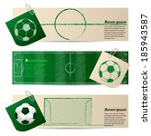 label set of three with soccer... | Shutterstock .eps vector #185943587