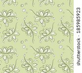 floral simple pattern | Shutterstock .eps vector #185985923
