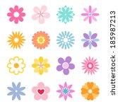 Vector Flower Icon Set