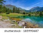 Small Alpine Lake Laux In The...