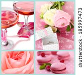 collage of photos in pink colors | Shutterstock . vector #185997473