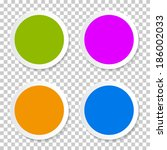colorful empty circle stickers  ... | Shutterstock . vector #186002033