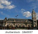 wide view of the gare de lyon ...
