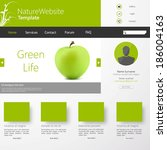 vector grey green website with...