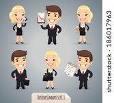 businessman cartoon characters... | Shutterstock .eps vector #186017963