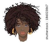 portrait of beauty african...