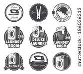 Set Of Vintage Laundry Emblems...