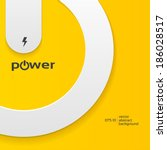 vector illustration of power... | Shutterstock .eps vector #186028517