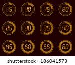 digital timer  lcd | Shutterstock .eps vector #186041573
