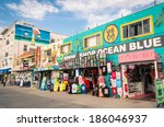 Постер, плакат: souvenirs shops on the