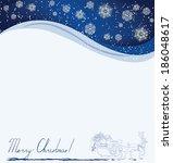 happy merry christmas | Shutterstock .eps vector #186048617