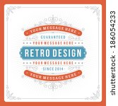 retro typographic design... | Shutterstock .eps vector #186054233