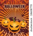 halloween pumpkin | Shutterstock .eps vector #18608770