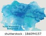 vector watercolor background ... | Shutterstock .eps vector #186094157