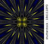 abstract star ornament   Shutterstock . vector #186111893