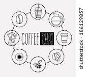 coffee design over white