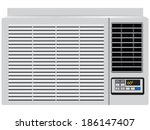 appliance built in window air... | Shutterstock .eps vector #186147407