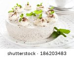 cake with mint and chocolate   Shutterstock . vector #186203483