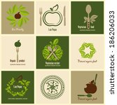 set of icons for food... | Shutterstock .eps vector #186206033