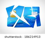 broken credit card default debt ... | Shutterstock . vector #186214913