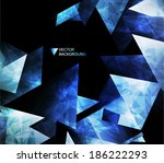 abstract modern background with ... | Shutterstock .eps vector #186222293