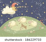 bedtime colorful illustration... | Shutterstock .eps vector #186229733