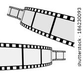 set of two blank cinema film... | Shutterstock .eps vector #186230093