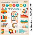 business infographics template. ... | Shutterstock .eps vector #186260267