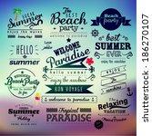 vintage typography summer...   Shutterstock .eps vector #186270107