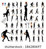 basketball players vector group | Shutterstock .eps vector #186280697