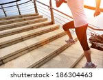 healthy lifestyle sports woman... | Shutterstock . vector #186304463