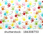 Colorful Children Hand Print O...