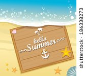 beautiful seaside summer view... | Shutterstock .eps vector #186338273