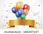 colorful birthday celebration... | Shutterstock .eps vector #186347147