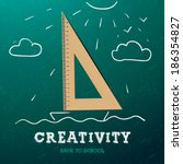 creativity learning. sailing... | Shutterstock .eps vector #186354827