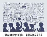business concept. hand drawn... | Shutterstock .eps vector #186361973