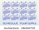 calendar and concept of... | Shutterstock . vector #186364733