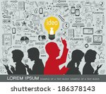 silhouettes of people on a... | Shutterstock .eps vector #186378143