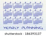 calendar and concept of... | Shutterstock . vector #186393137