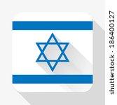 simple flat icon israel flag....
