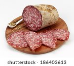 salami with fennel seeds | Shutterstock . vector #186403613