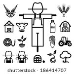 agriculture,animal,apple,barn,basket,cattle,cereal,collection,concept,corn,cow,design,ecology,farm,farmer