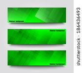 set of banner templates with... | Shutterstock .eps vector #186436493