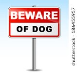 Vector Illustration Of Beware...