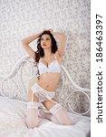 photo of young  girl in erotic... | Shutterstock . vector #186463397
